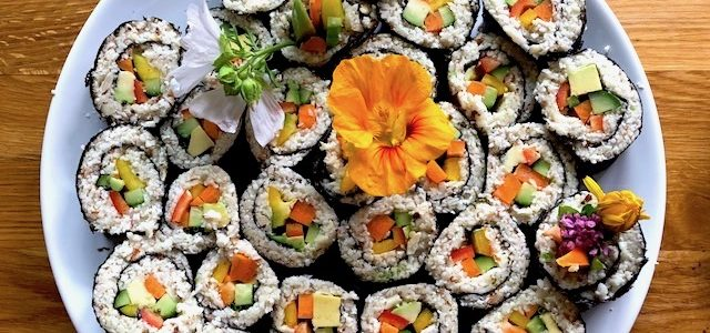 Roh-vegane Futomaki Rezept