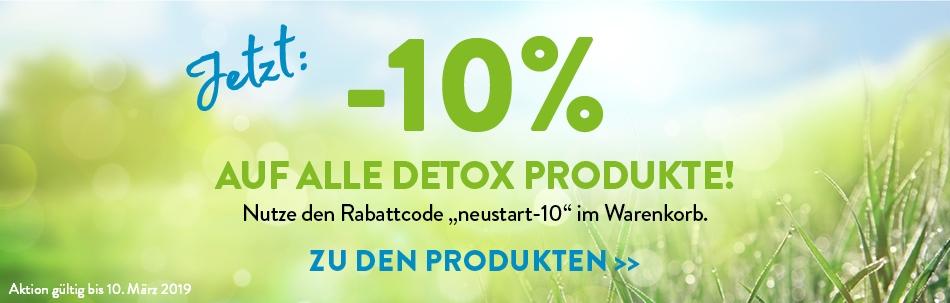Jetzt -10% auf alle Detox Produkte!