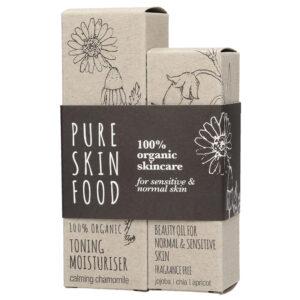 Pure Skin Food Bio Pflegeset für empfindliche & normale Haut
