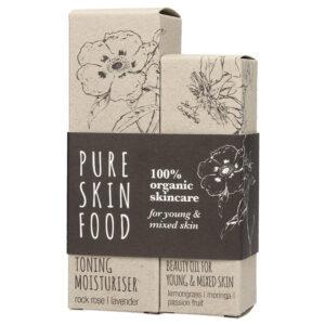 Pure Skin Food Bio Pflegeset für junge Haut und Mischhaut