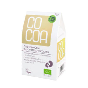 Cocoa Cashews in Kokosschokolade